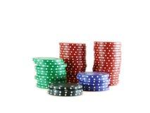 chip w pokera. Obrazy Royalty Free