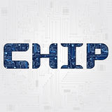 Chip word Royalty Free Stock Photography