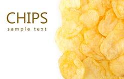 chip ziemniaka odosobnione white Obraz Royalty Free
