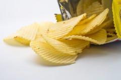 chip ziemniaka odosobnione white Obrazy Royalty Free