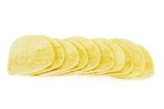 chip ziemniaka odosobnione white Zdjęcie Royalty Free
