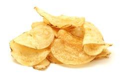 chip ziemniaka odosobnione white Zdjęcia Stock