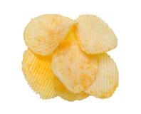 chip ziemniaka odosobnione white Obraz Stock