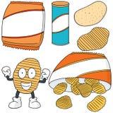 chip ziemniaka odosobnione white ilustracji