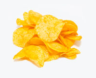 chip ziemniaka odosobnione white Fotografia Royalty Free