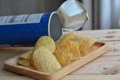 chip ziemniaka odosobnione white Fotografia Stock