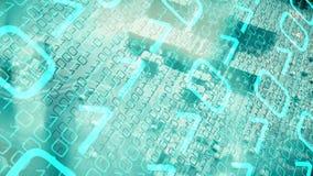 Chipa komputerowego algorytm, nowa technologia wstępu tło ilustracji