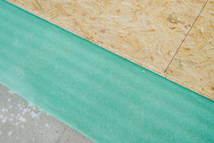 Chipboard floor installation Stock Images