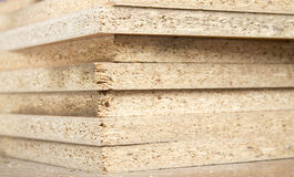 Chipboard folded in a pile Royalty Free Stock Photo