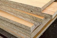 Chipboard folded in a pile Royalty Free Stock Images