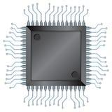 chipCPU Fotografering för Bildbyråer