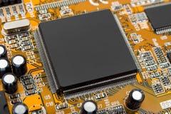 chipdatormakro royaltyfria foton