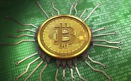 chipdiagram för bitcoin 3d Fotografering för Bildbyråer