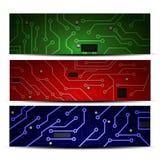 Chiper av olika färger med processorer med lurar Fotografering för Bildbyråer
