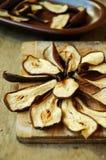 chiper av torkade päron Royaltyfri Foto