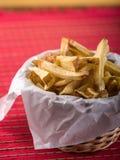 chiper fork stekt Royaltyfri Bild