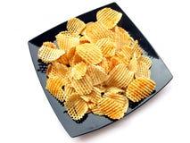 chiper isolerade potatisen Arkivbild