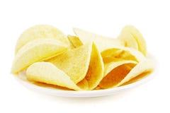chiper isolerade potatiswhite Arkivfoto