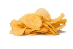 chiper isolerade potatiswhite Royaltyfri Fotografi