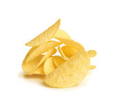 chiper isolerade potatiswhite Arkivbild