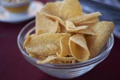 Chiper som en startknapp Arkivbild