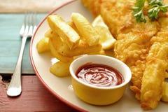 chiper stänger upp fisken Royaltyfri Fotografi