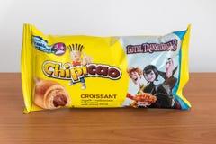 Chipicao giffel med kakaokrämfyllning royaltyfria foton