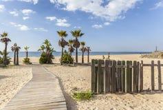 Chipiona,Andalucia,Spain. Beach of La Regla, Chipiona, Andalucia, Spain Stock Images