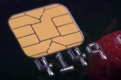 Chipkreditkortar Arkivfoto