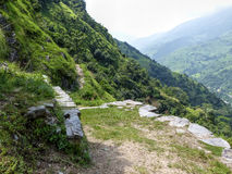 Chipla way - way through Marsyangdi river valley royalty free stock images