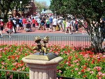 Chipmunk statue at Disney World at Orlando, Florida