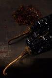 Chipotle -墨西哥胡椒熏制的辣椒 免版税库存照片