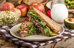 Chipotle-Avocado Summer Sandwich Recipe Royalty Free Stock Image