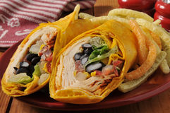 Chipotle chicken wrap sandwich Stock Image