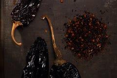 Chipotle - jalapeno gerookte Spaanse peper Stock Afbeeldingen