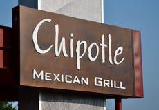 Chipotle mexikanisches Grillzeichen Stockfoto