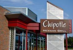 Chipotle mexikanisches Grillzeichen Stockfotografie