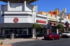 Chipotle y apenas deportes en Glendale AZ imágenes de archivo libres de regalías