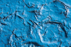 Chipped blue paint Royalty Free Stock Image