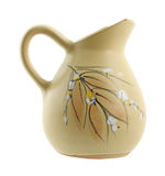 Chipped ewer with floral and leaf design Royalty Free Stock Photo