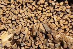 Chipped fire wood Royalty Free Stock Images