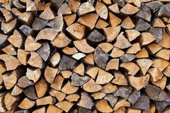 Chipped logs Royalty Free Stock Images
