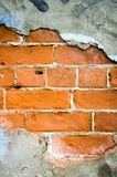 Chipped paint brick. Wall background stock images