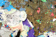 Chipped Paint Flakes on Stone Royalty Free Stock Photo