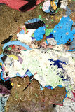 Chipped Paint Flakes on Stone Royalty Free Stock Photography