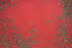 Chipped paint on iron surface. Texture Stock Images