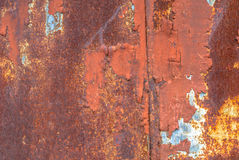 Chipped paint on iron surface texture background Stock Images