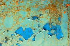 Chipped paint on iron surface texture Royalty Free Stock Photography