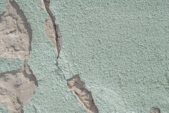 Chipped paint on old concrete wall, texture background Royalty Free Stock Photos