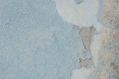 Chipped paint on old concrete wall, texture background Royalty Free Stock Photo